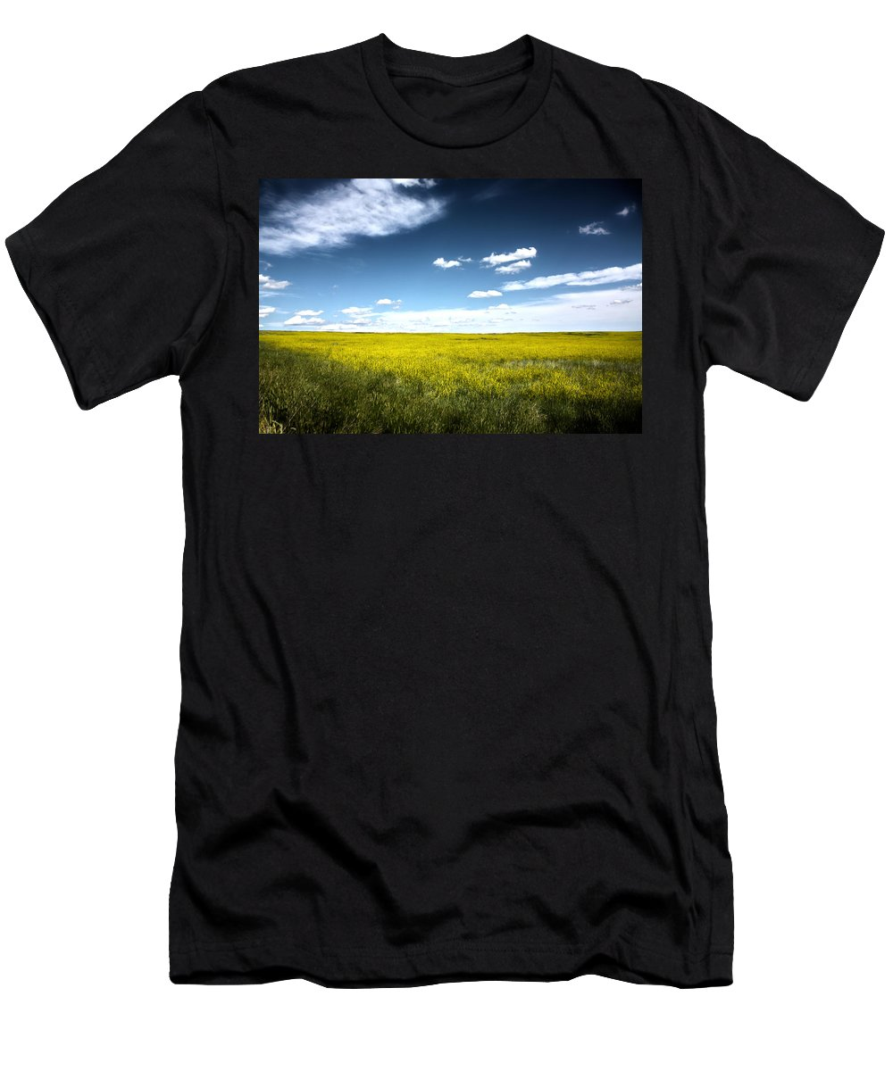 Pawnee National Grasslands Men's T-Shirt (Athletic Fit) featuring the photograph Pawnee Grasslands by Shane Bechler