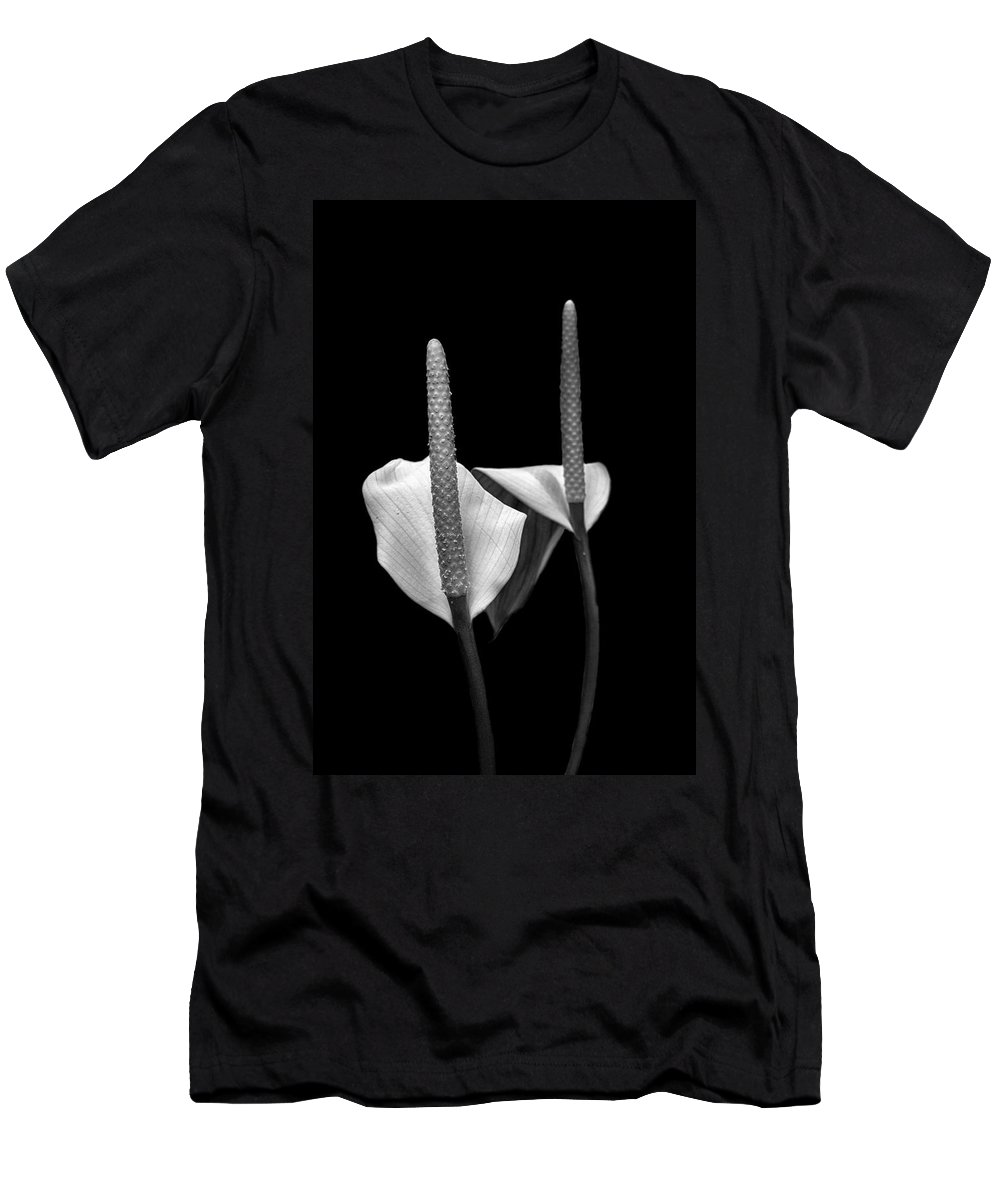 Americas Men's T-Shirt (Athletic Fit) featuring the photograph Peace Lilies by Paul Fell
