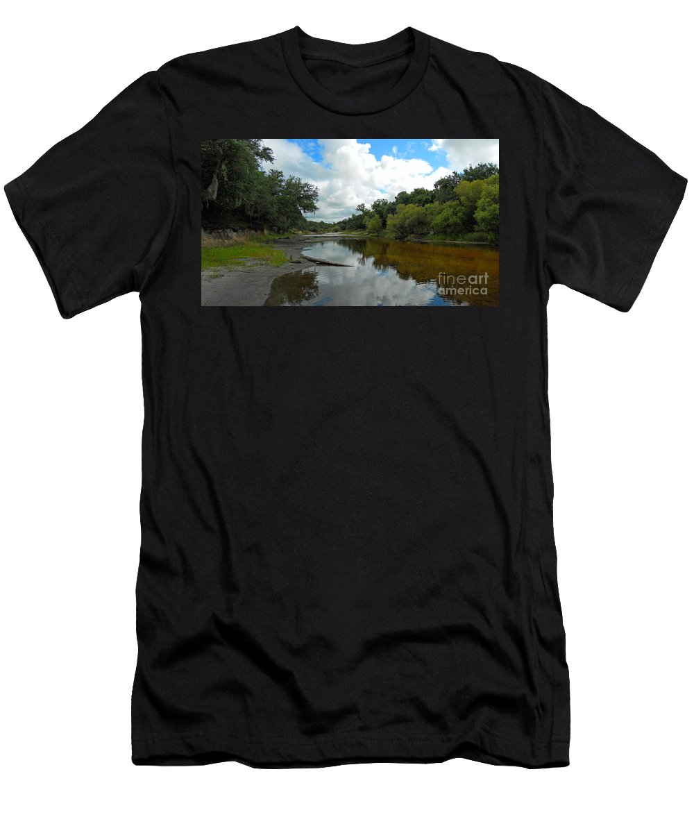 River Men's T-Shirt (Athletic Fit) featuring the photograph Peace River 2 by Nancy L Marshall