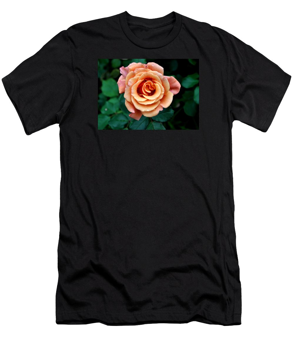 Flower Men's T-Shirt (Athletic Fit) featuring the photograph Peachesncream by Jay Milo