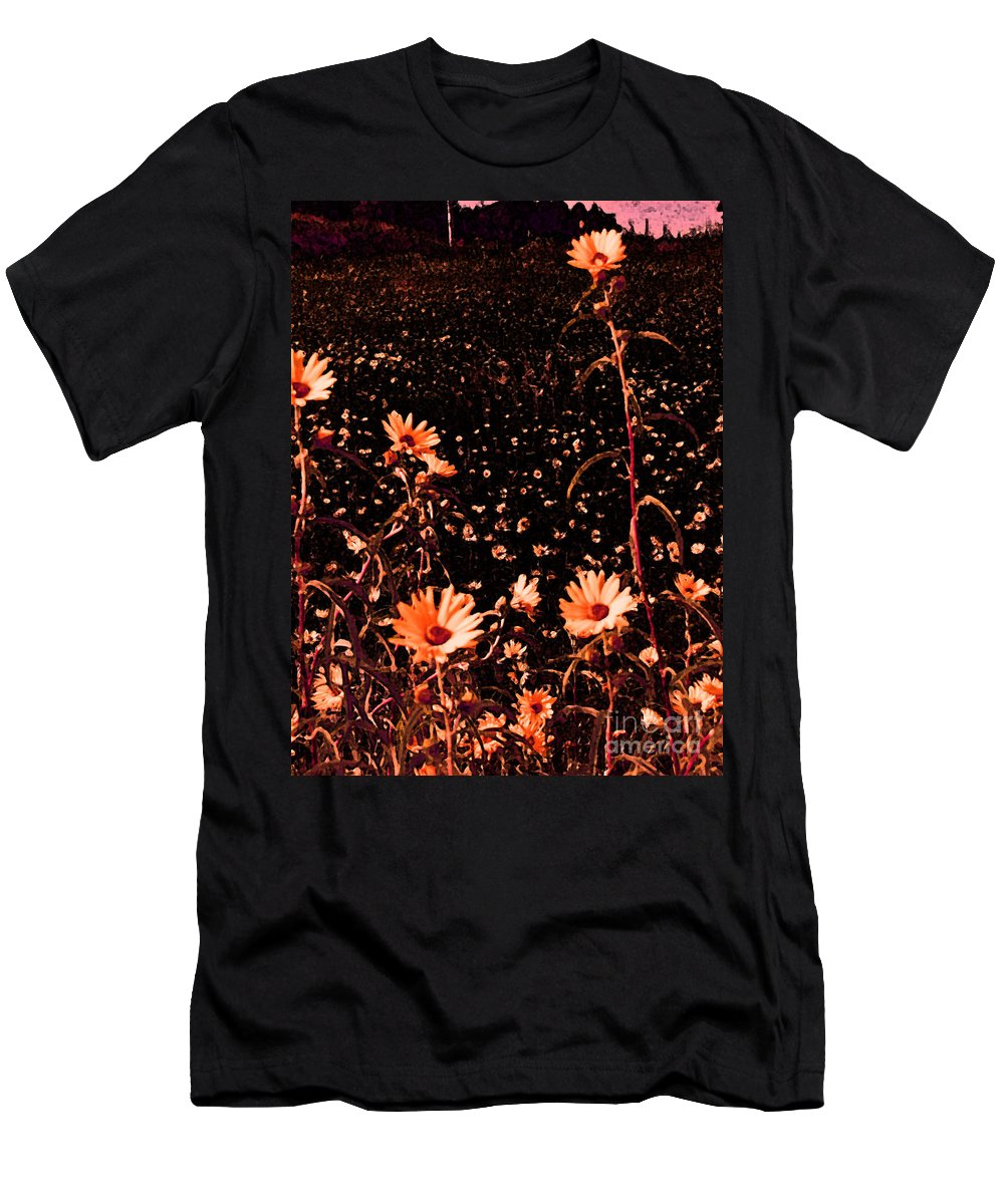 Flower Men's T-Shirt (Athletic Fit) featuring the photograph Peachy Keen by Minding My Visions by Adri and Ray
