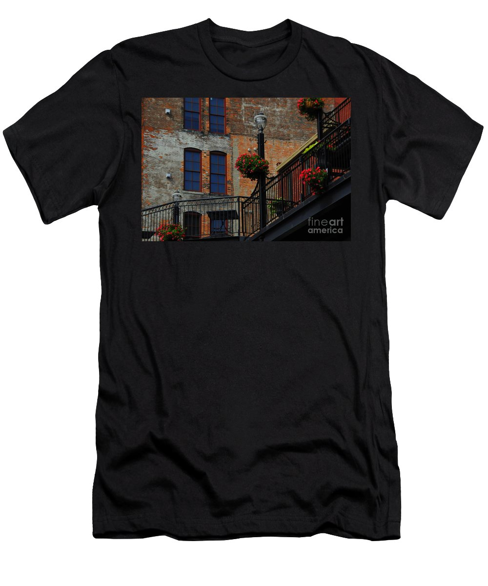 Urban Men's T-Shirt (Athletic Fit) featuring the photograph Pearl Street Grill by Kathleen Struckle