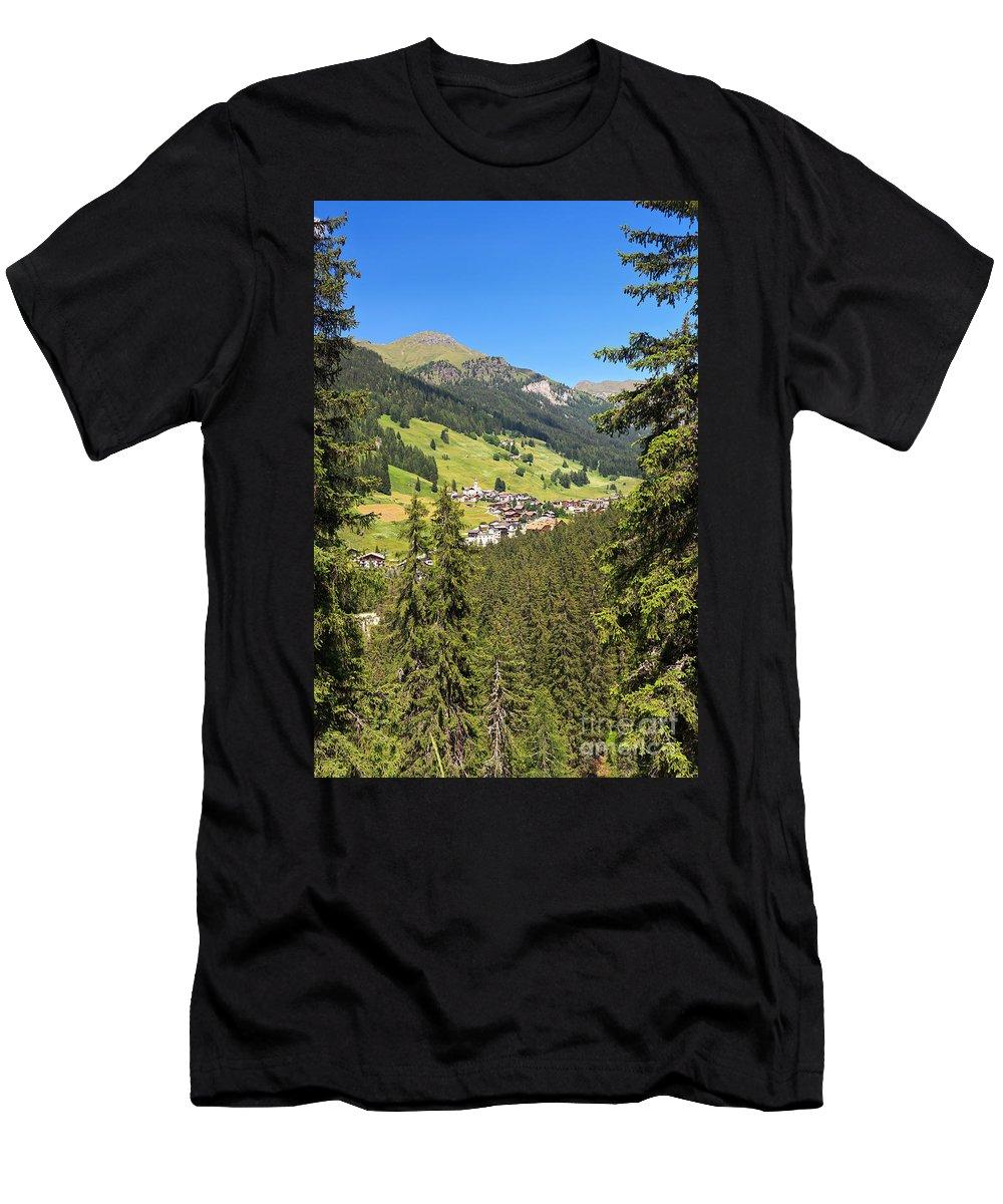 Alpine Men's T-Shirt (Athletic Fit) featuring the photograph Penia - Val Di Fassa by Antonio Scarpi