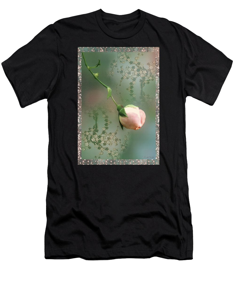 Rose Men's T-Shirt (Athletic Fit) featuring the painting Penny Postcard Chinoiserie by RC DeWinter
