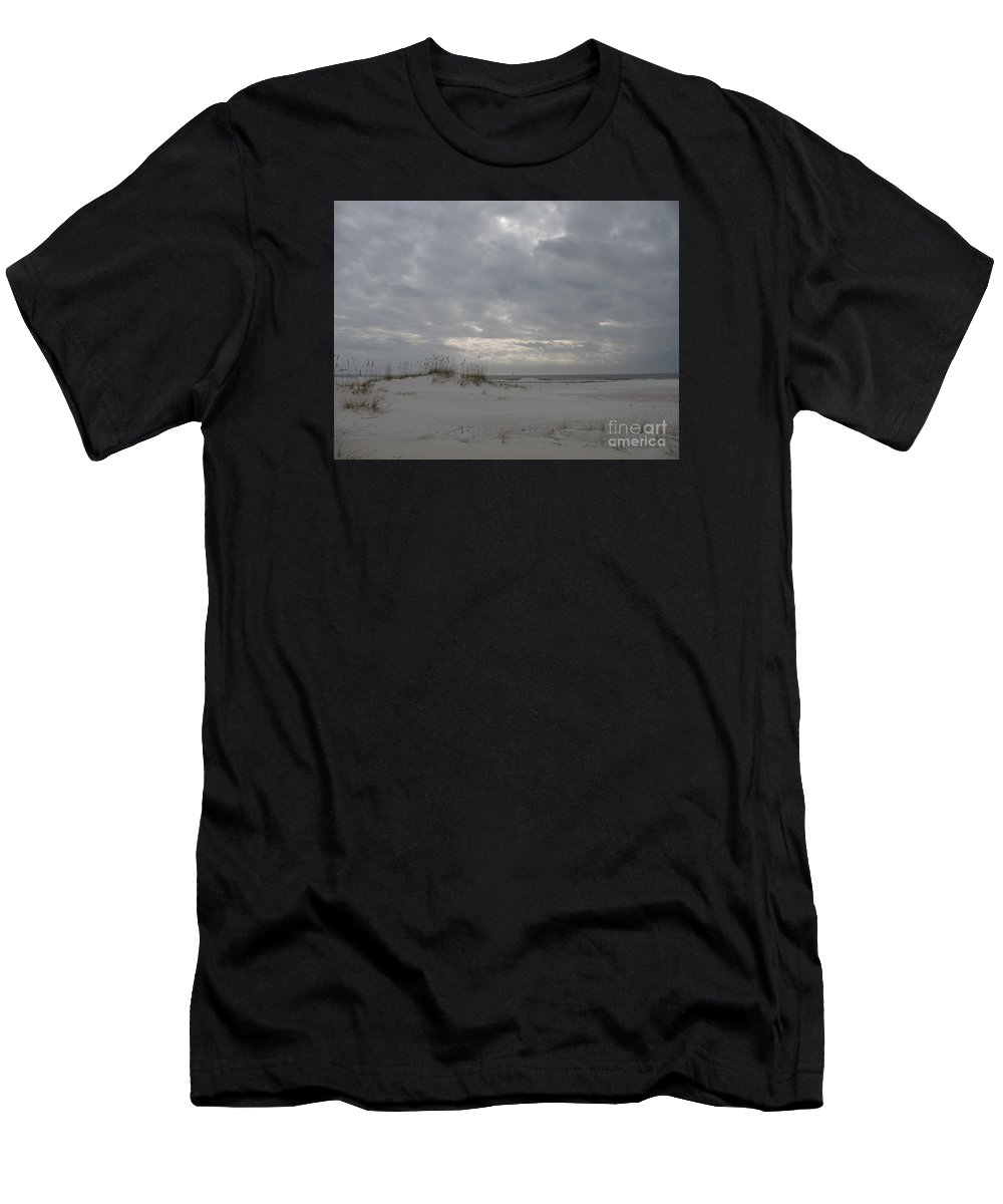 Beach Men's T-Shirt (Athletic Fit) featuring the photograph Pensacola Beach After Storm by Christiane Schulze Art And Photography