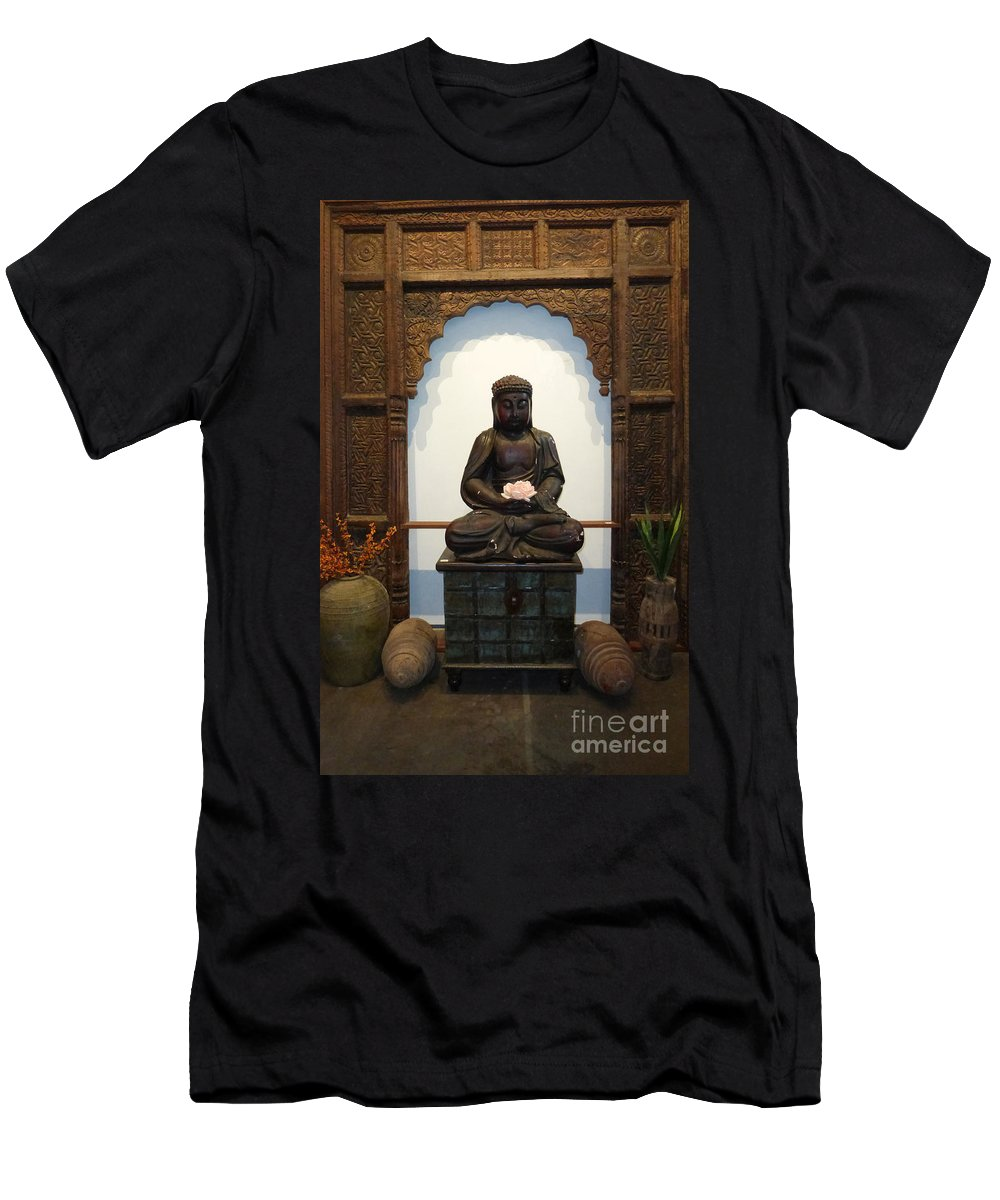 Buddha Men's T-Shirt (Athletic Fit) featuring the photograph Perfect Serenity by To-Tam Gerwe
