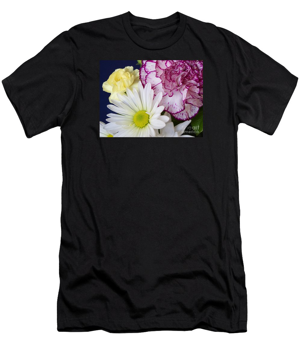 Flower Men's T-Shirt (Athletic Fit) featuring the photograph Perky Posies by Ann Horn