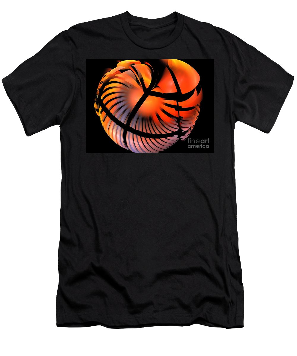 Apophysis Men's T-Shirt (Athletic Fit) featuring the digital art Persimmon by Kim Sy Ok