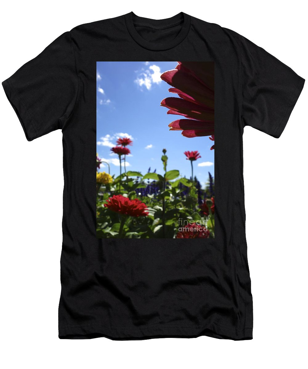 Flowers Men's T-Shirt (Athletic Fit) featuring the photograph Petal Nation by Jacqueline Athmann