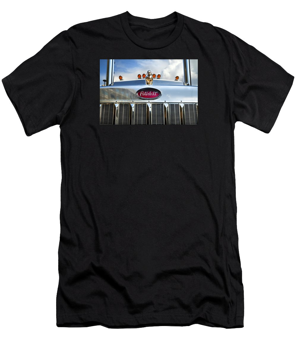 Truck Men's T-Shirt (Athletic Fit) featuring the photograph Peterbilt by Theresa Tahara