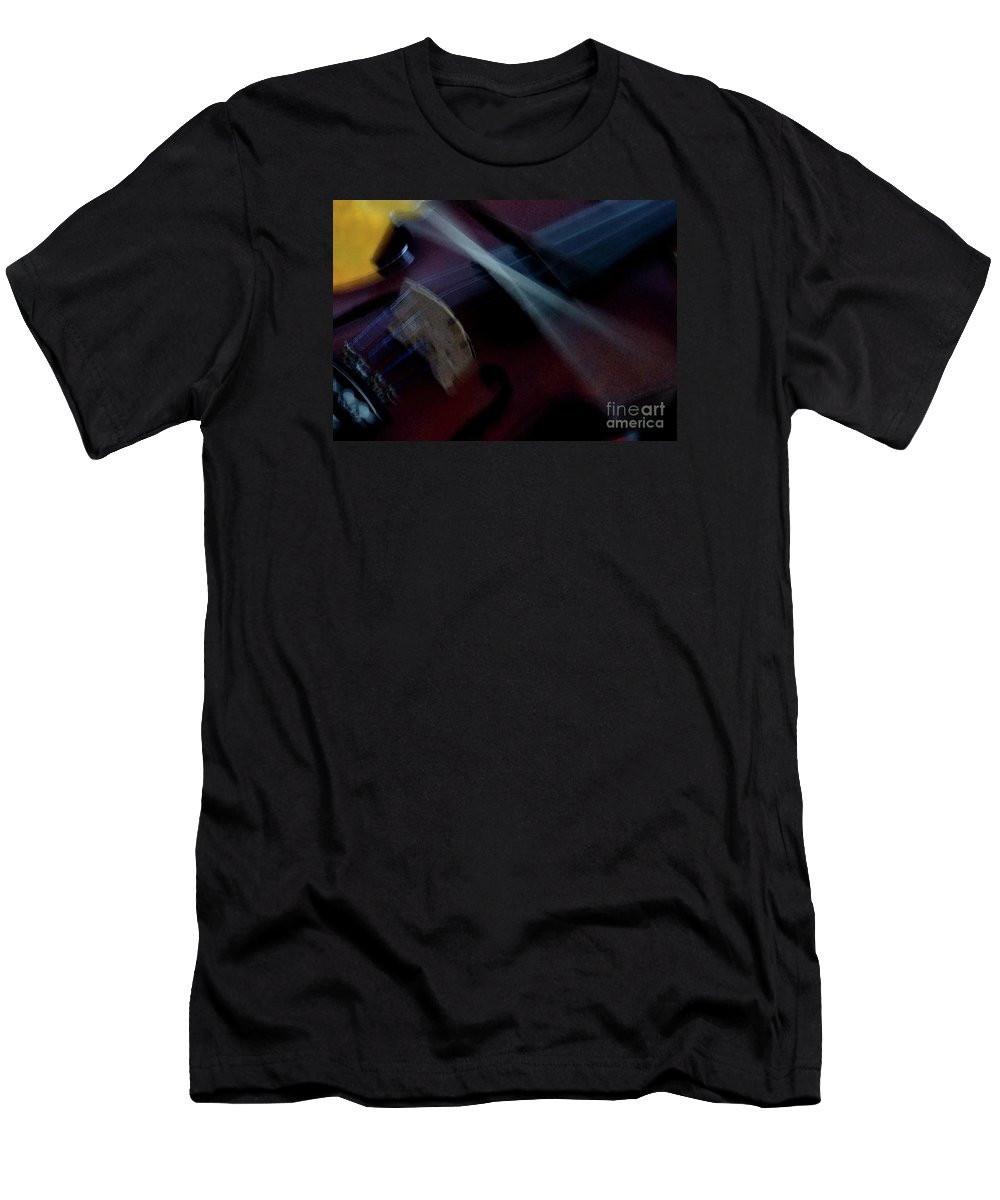 Violin Men's T-Shirt (Athletic Fit) featuring the photograph Phoebe's Violin by Linda Shafer