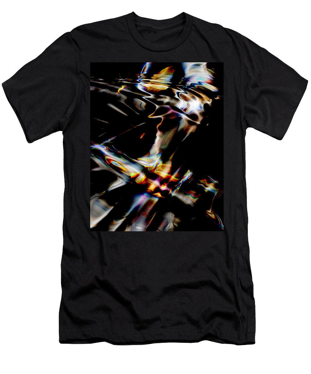 Abstract Men's T-Shirt (Athletic Fit) featuring the digital art Phoenix Rising by Richard Thomas