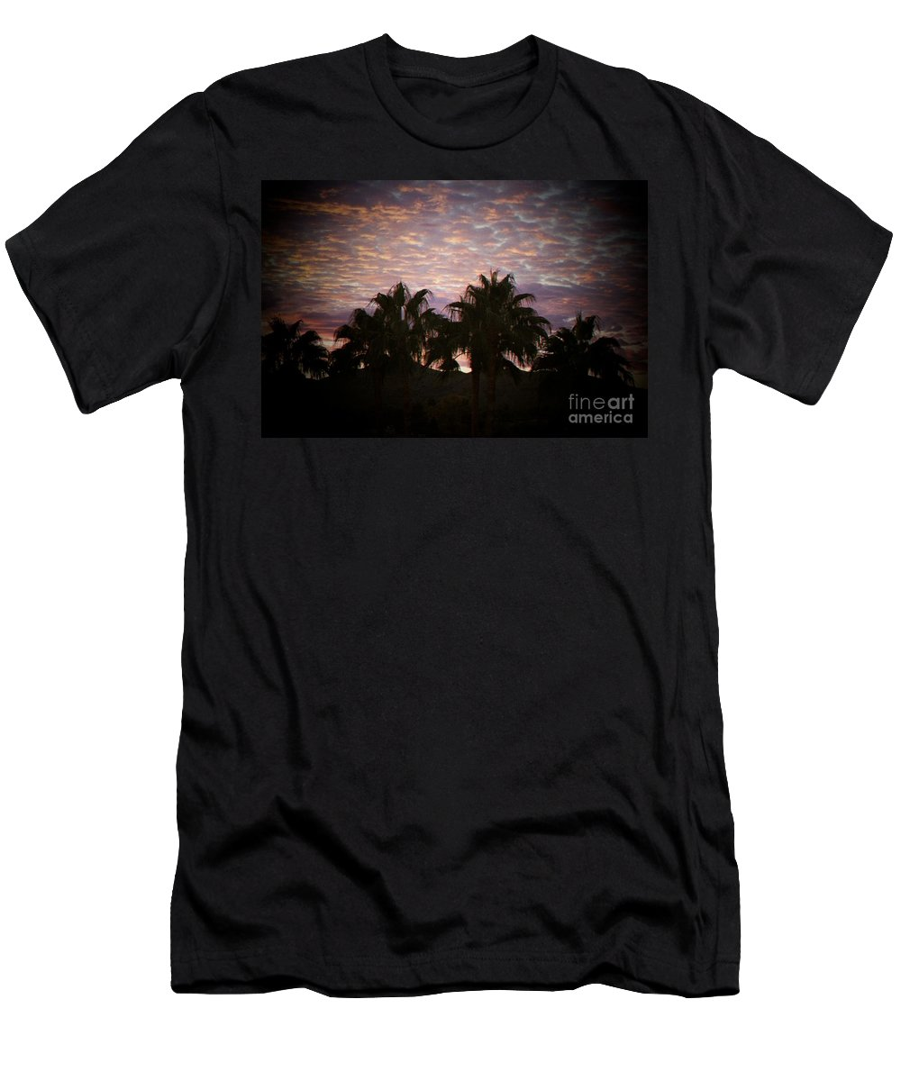 Sunset Men's T-Shirt (Athletic Fit) featuring the photograph Phoenix Sunset by Brandi Maher