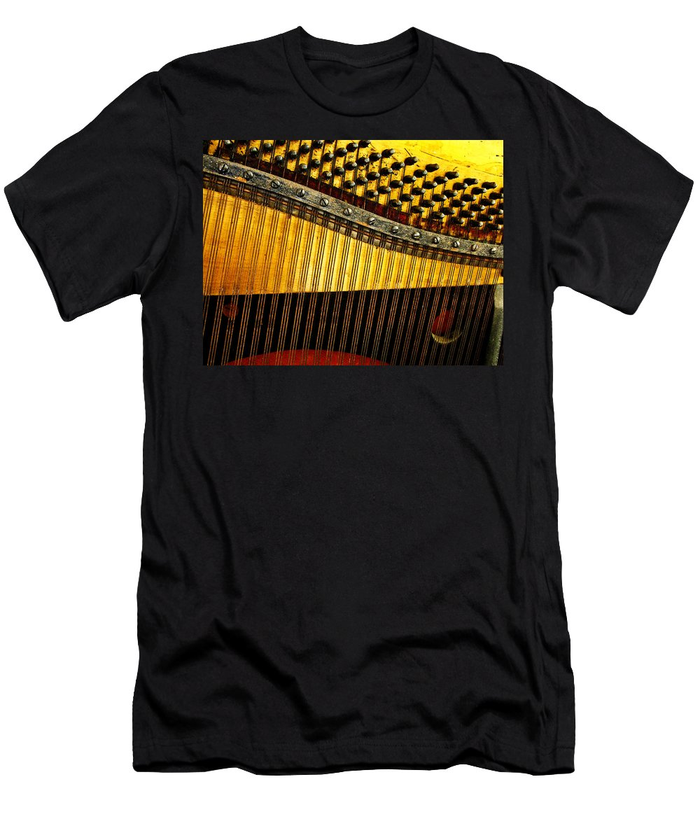 Piano Harp Men's T-Shirt (Athletic Fit) featuring the photograph Piano Harp by Randi Kuhne