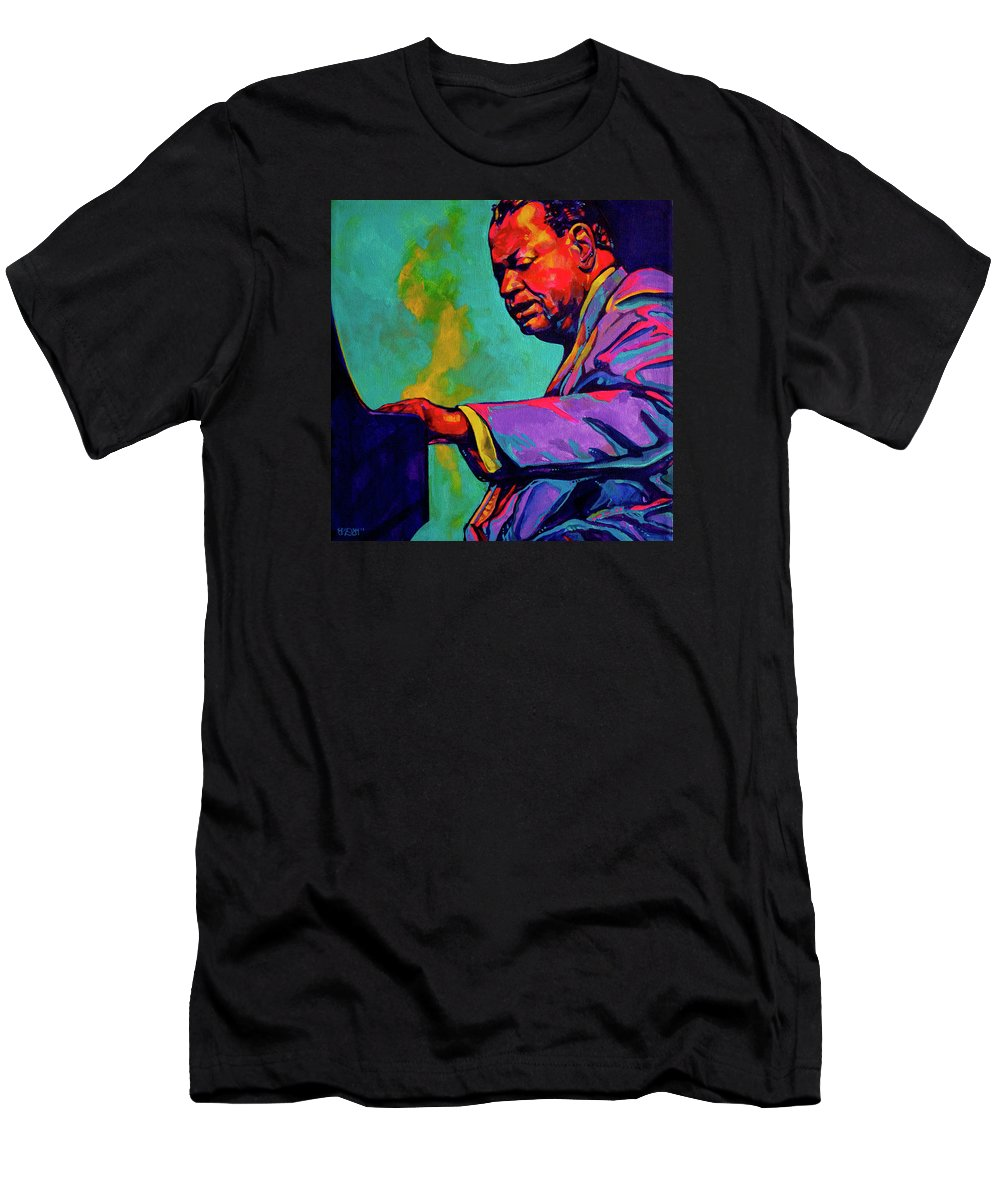 Acrylic Men's T-Shirt (Athletic Fit) featuring the painting Piano Player by Derrick Higgins