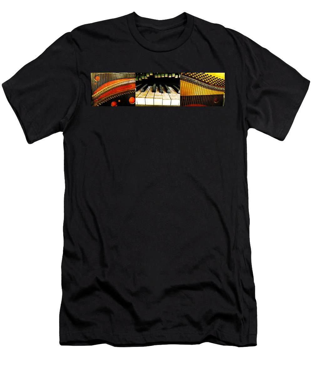 Triptych Men's T-Shirt (Athletic Fit) featuring the photograph Piano Triptych by Randi Kuhne