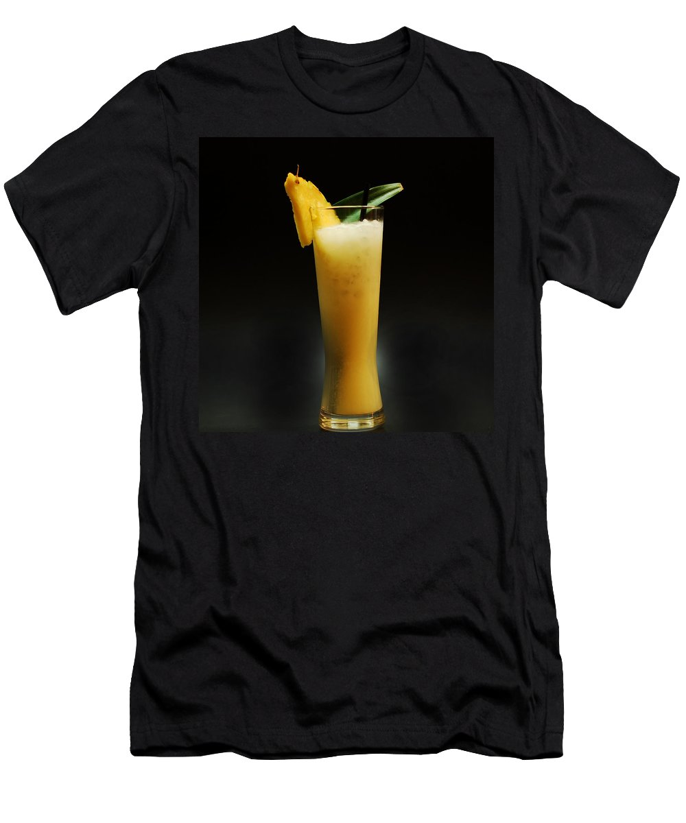 Pina Colada Men's T-Shirt (Athletic Fit) featuring the photograph Pina Colada by Gina Dsgn