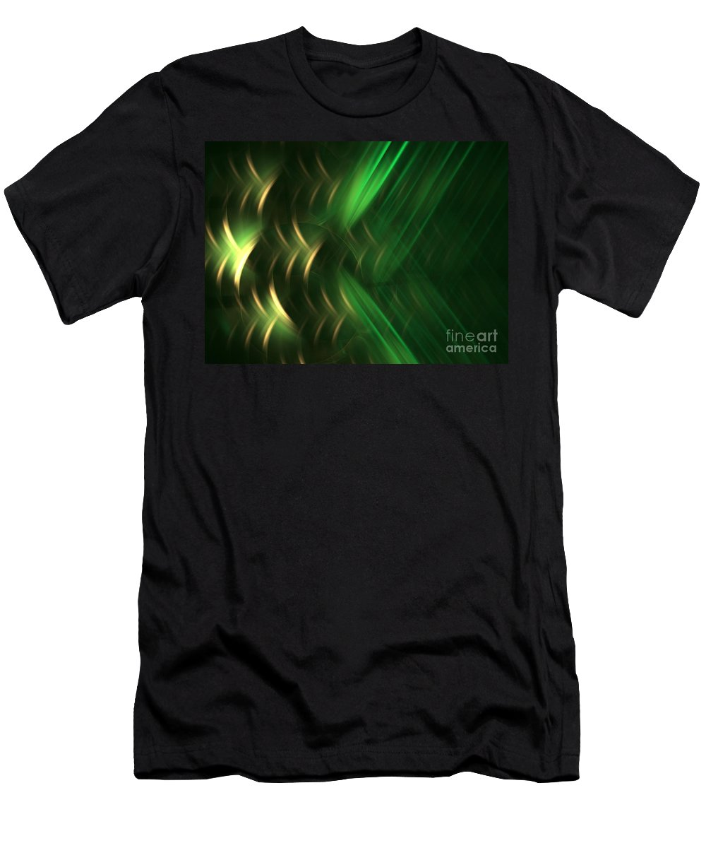 Apophysis Men's T-Shirt (Athletic Fit) featuring the digital art Pine by Kim Sy Ok