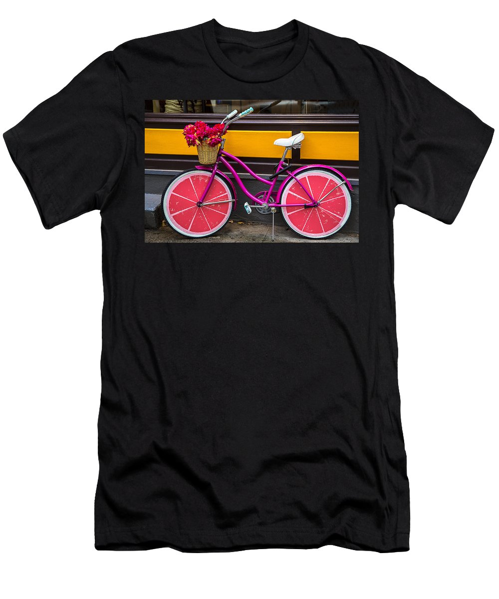 Pink Men's T-Shirt (Athletic Fit) featuring the photograph Pink Bike by Garry Gay