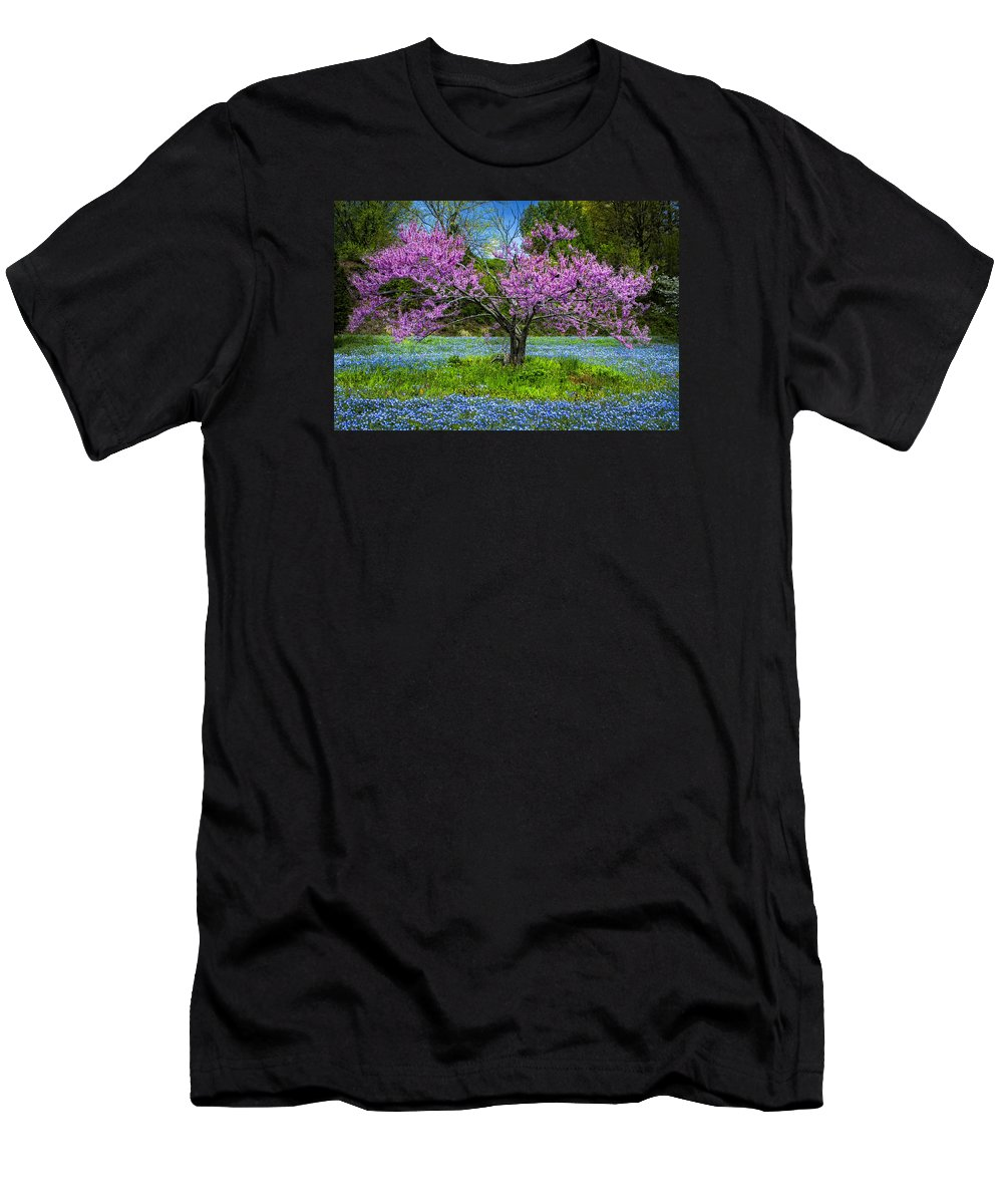 Appalachia Men's T-Shirt (Athletic Fit) featuring the photograph Pink by Debra and Dave Vanderlaan