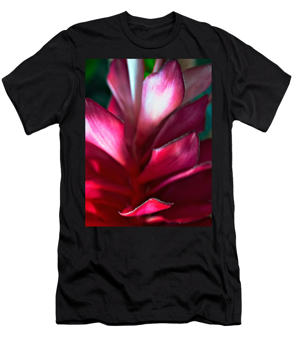 Flower Men's T-Shirt (Athletic Fit) featuring the photograph Pink Journey by Steve Harrington
