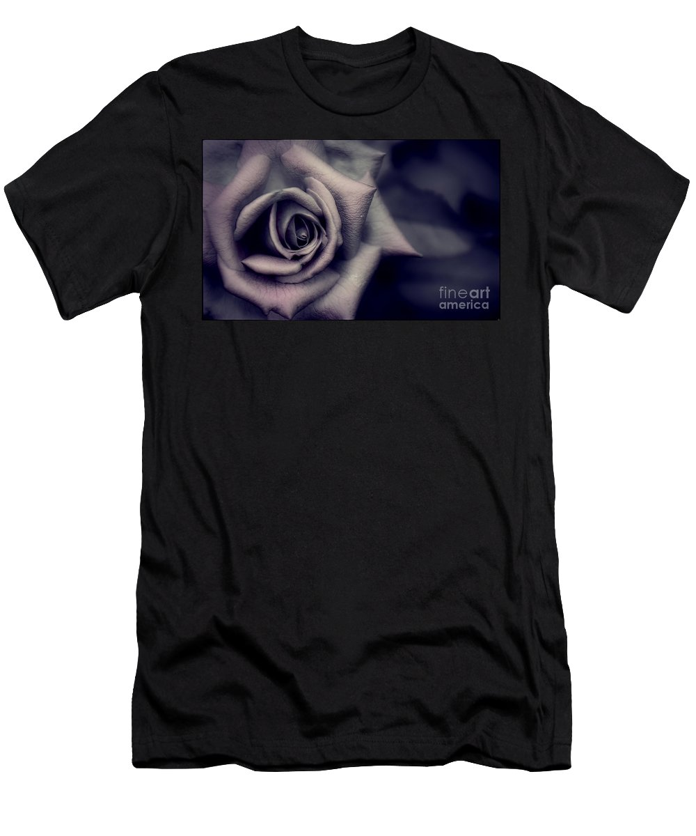 Rose Men's T-Shirt (Athletic Fit) featuring the photograph Pink Under Veil by Joshua Roberts