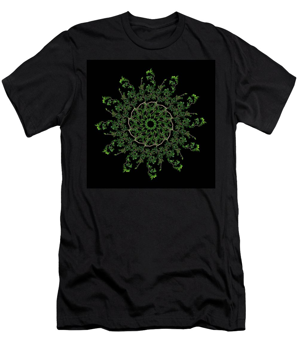 Pinwheel Men's T-Shirt (Athletic Fit) featuring the photograph Pinwheel I by Debra and Dave Vanderlaan