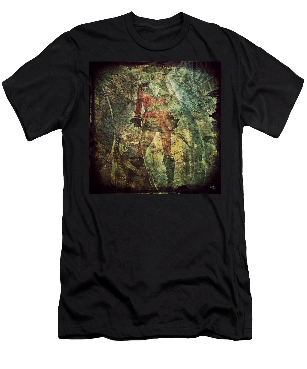 Pirate Men's T-Shirt (Athletic Fit) featuring the digital art Pirate Chelsea by Absinthe Art By Michelle LeAnn Scott