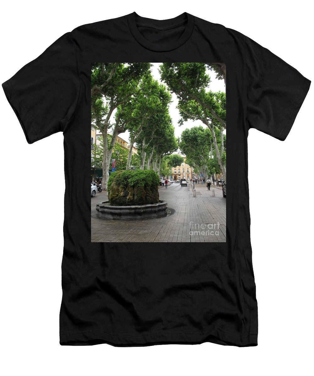 Plane Men's T-Shirt (Athletic Fit) featuring the photograph Plane Alley - Aix En Provence by Christiane Schulze Art And Photography