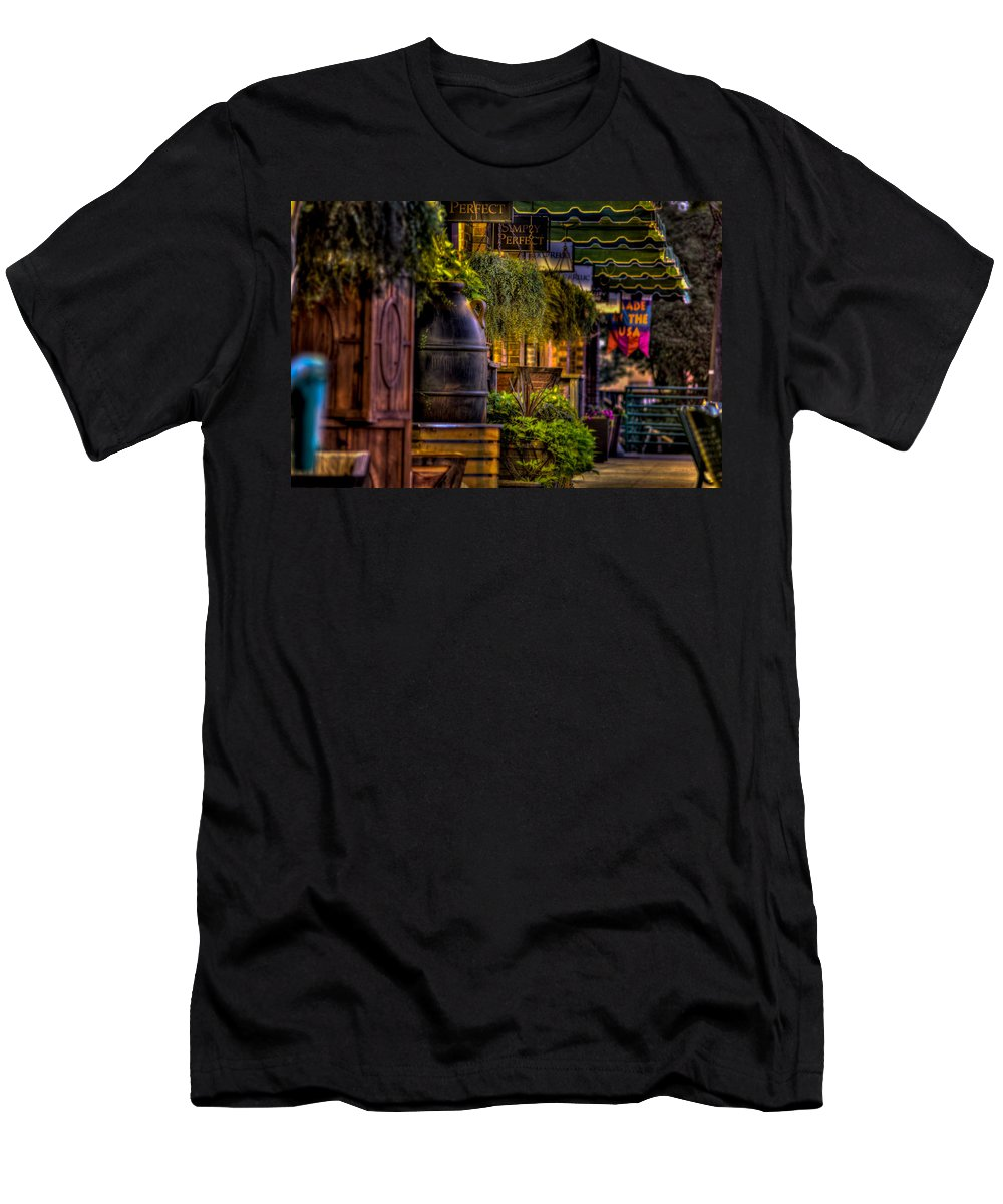 8th And Rr Men's T-Shirt (Athletic Fit) featuring the photograph Plants And Boardwalk H by Mike Oistad