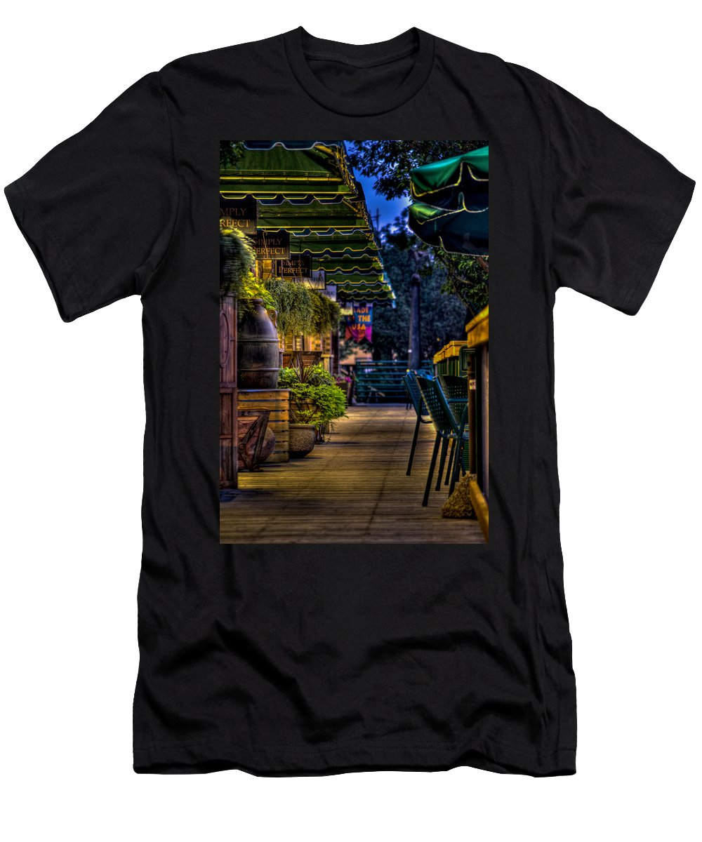 8th And Rr Men's T-Shirt (Athletic Fit) featuring the photograph Plants And Boardwalk V by Mike Oistad