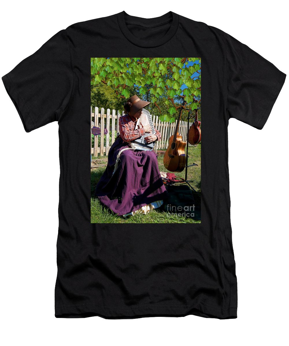 Play A Song For Me Men's T-Shirt (Athletic Fit) featuring the photograph Play A Song For Me by Liane Wright