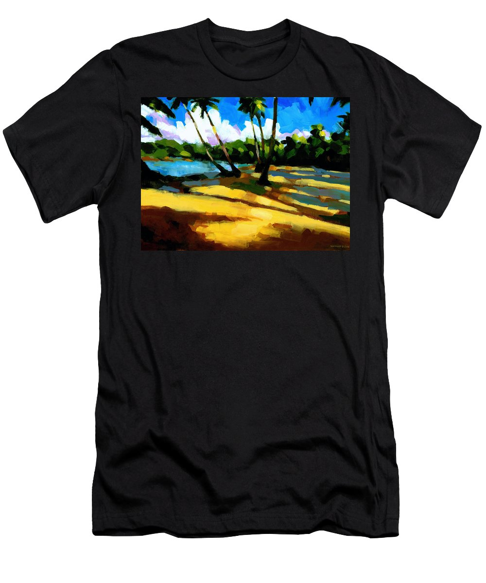 Beach Men's T-Shirt (Athletic Fit) featuring the painting Playa Bonita 2 by Douglas Simonson