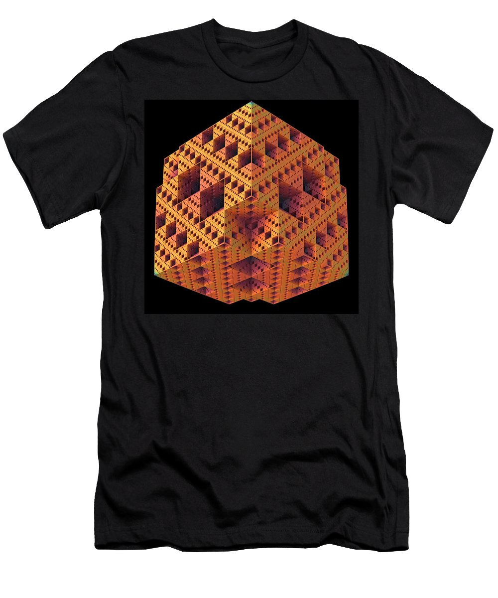 Fractal Men's T-Shirt (Athletic Fit) featuring the digital art Playing Blocks by Lyle Hatch