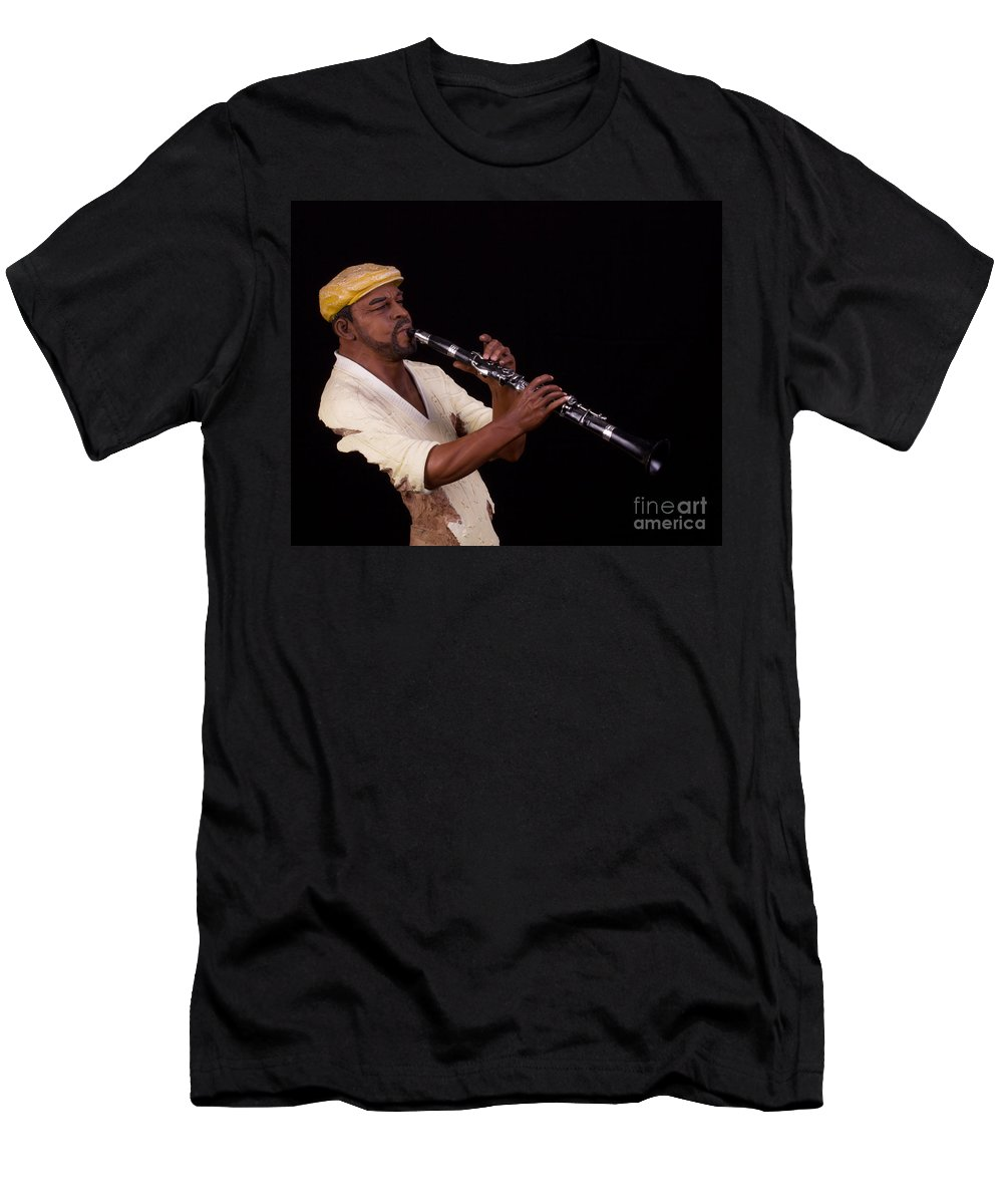 Still Life Men's T-Shirt (Athletic Fit) featuring the photograph playing the Clarinet by TN Fairey