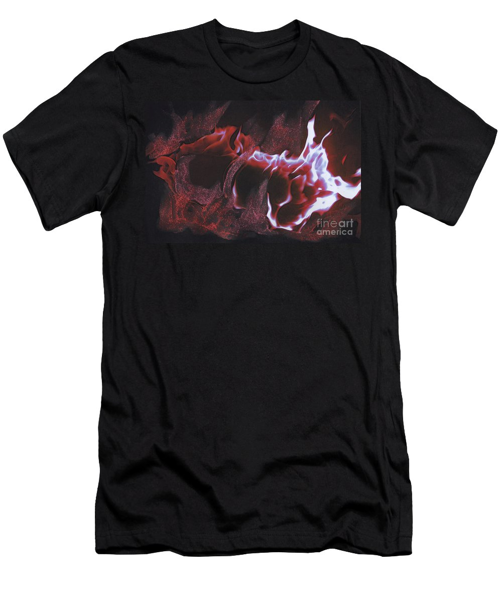 First Star Art Men's T-Shirt (Athletic Fit) featuring the mixed media Playing With Fire 2 By Jrr by First Star Art