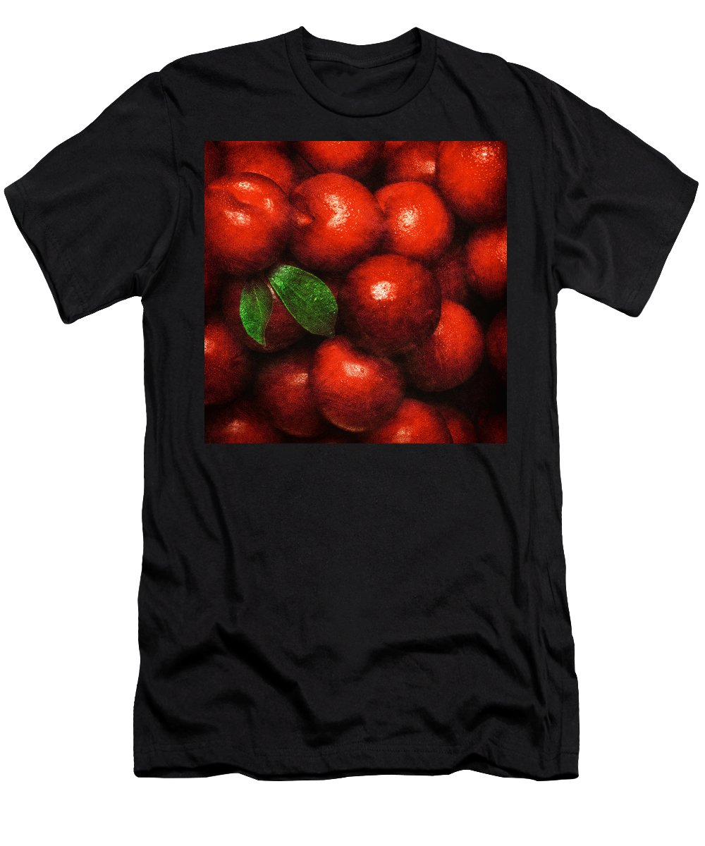 Plums Men's T-Shirt (Athletic Fit) featuring the photograph Plums by Mauro Celotti