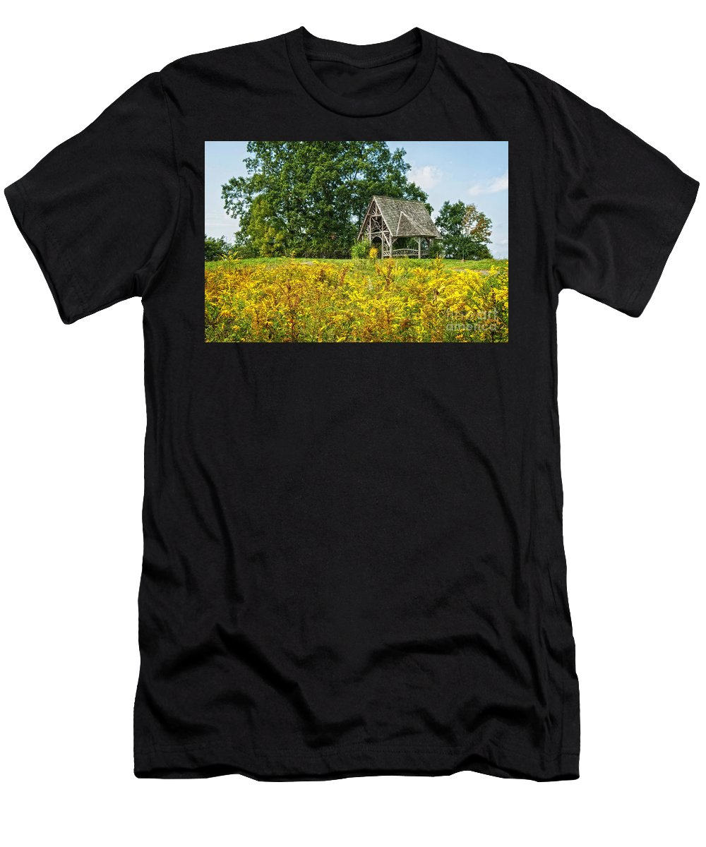Field Men's T-Shirt (Athletic Fit) featuring the photograph Poet's Walk by Claudia Kuhn