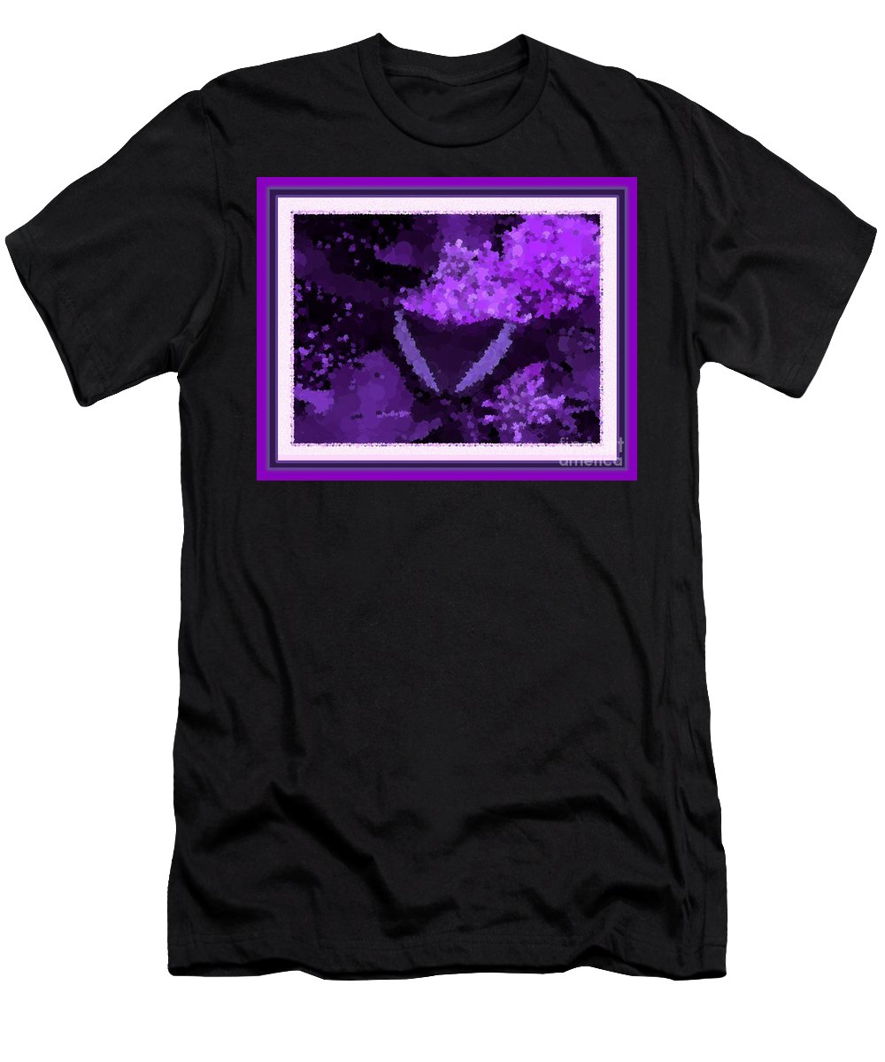 Polka Dot Butterfly Purple Men's T-Shirt (Athletic Fit) featuring the photograph Polka Dot Butterfly Purple by Barbara Griffin