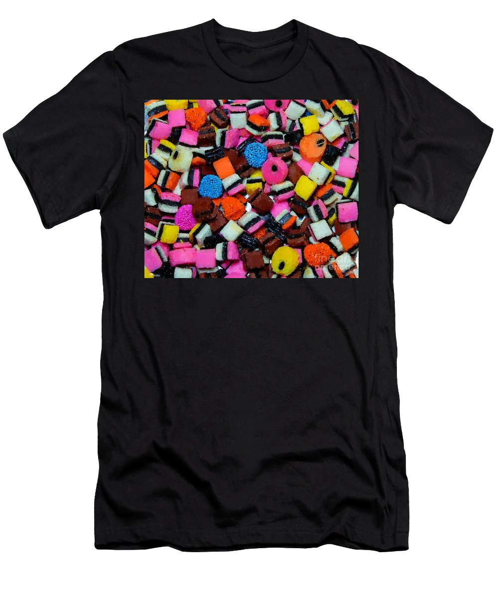 Polka Dot Colorful Candy Men's T-Shirt (Athletic Fit) featuring the photograph Polka Dot Colorful Candy by Barbara Griffin