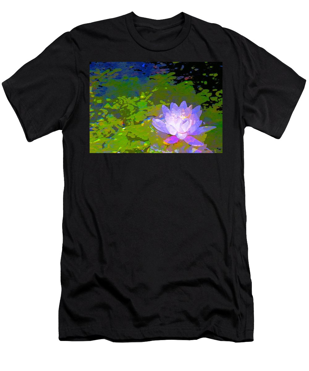 Floral Men's T-Shirt (Athletic Fit) featuring the photograph Pond Lily 29 by Pamela Cooper