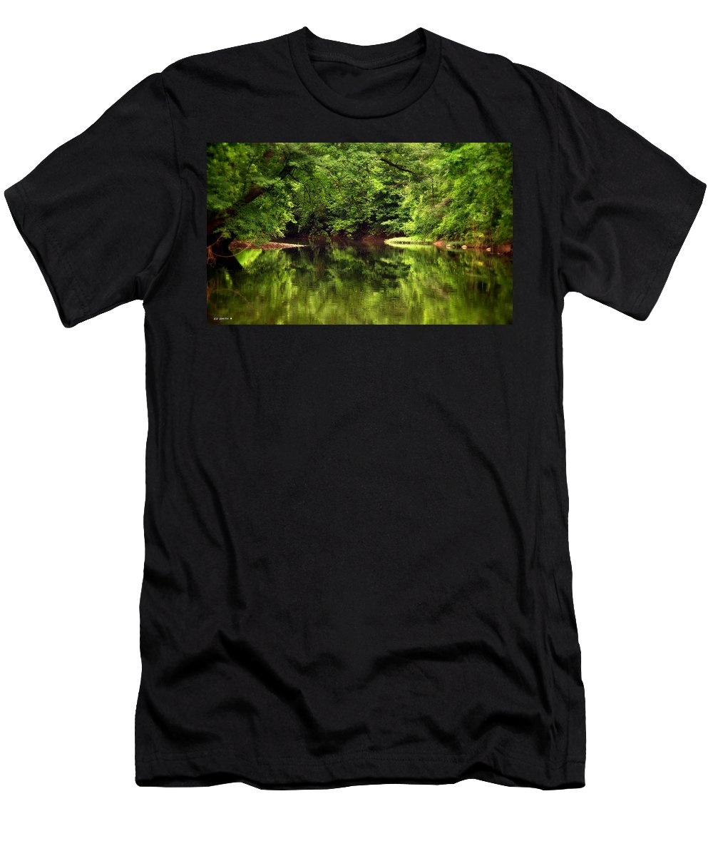 Pondering Men's T-Shirt (Athletic Fit) featuring the photograph Pondering by Ed Smith
