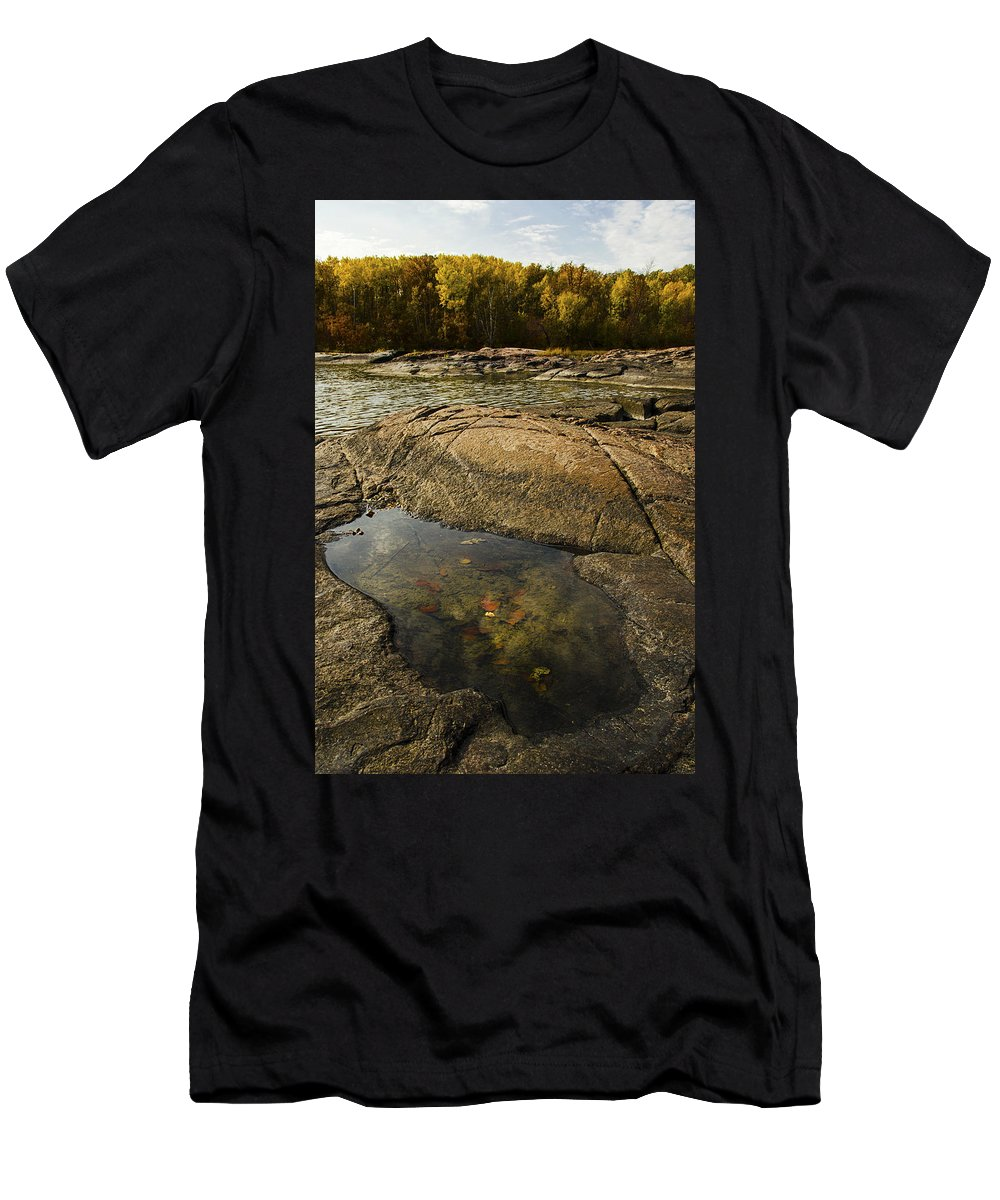 Fall Men's T-Shirt (Athletic Fit) featuring the photograph Pool by Sandra Parlow