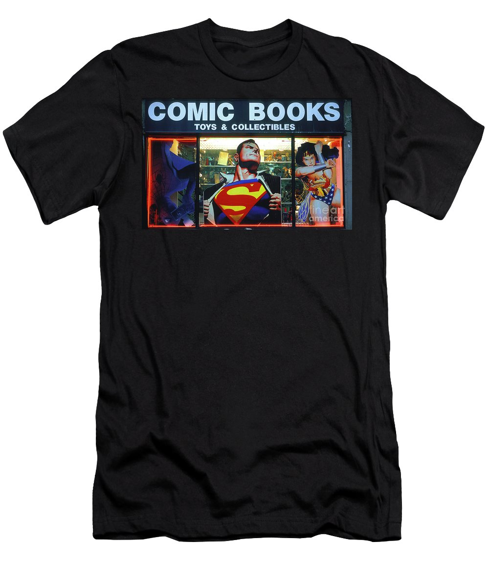 Superman Men's T-Shirt (Athletic Fit) featuring the photograph Pop Culture by Bruce Bain