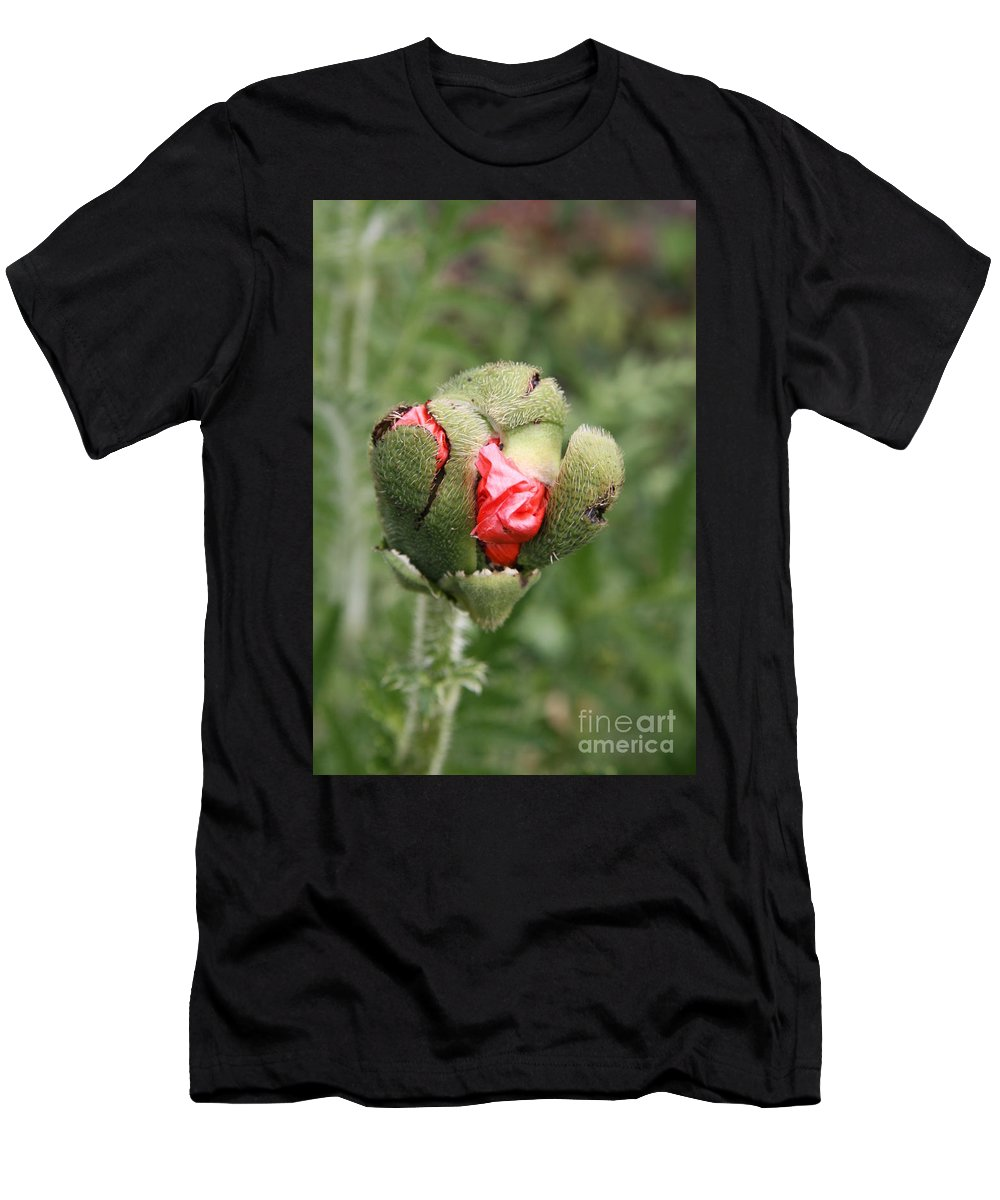 Flowers Men's T-Shirt (Athletic Fit) featuring the photograph Poppybud by Christiane Schulze Art And Photography