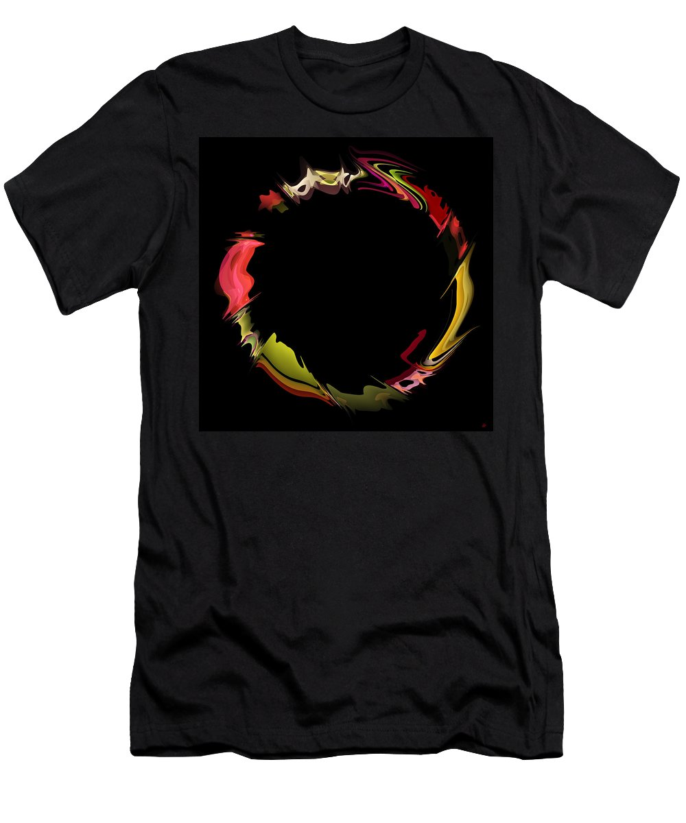 circle Of Life Men's T-Shirt (Athletic Fit) featuring the digital art Porous Circle by Daniel Hagerman
