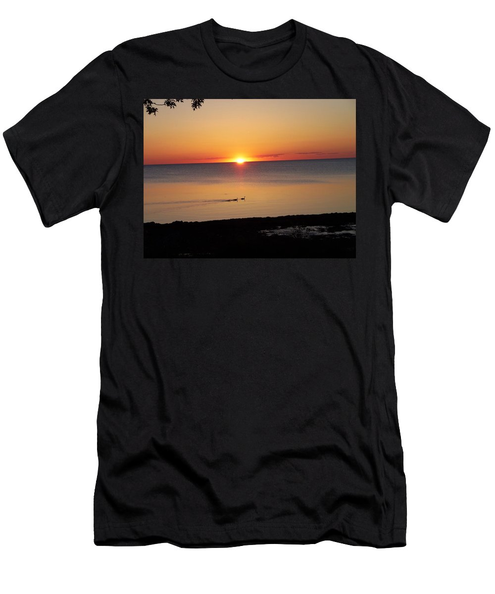 Port Austin Men's T-Shirt (Athletic Fit) featuring the photograph Port Austin by Two Bridges North