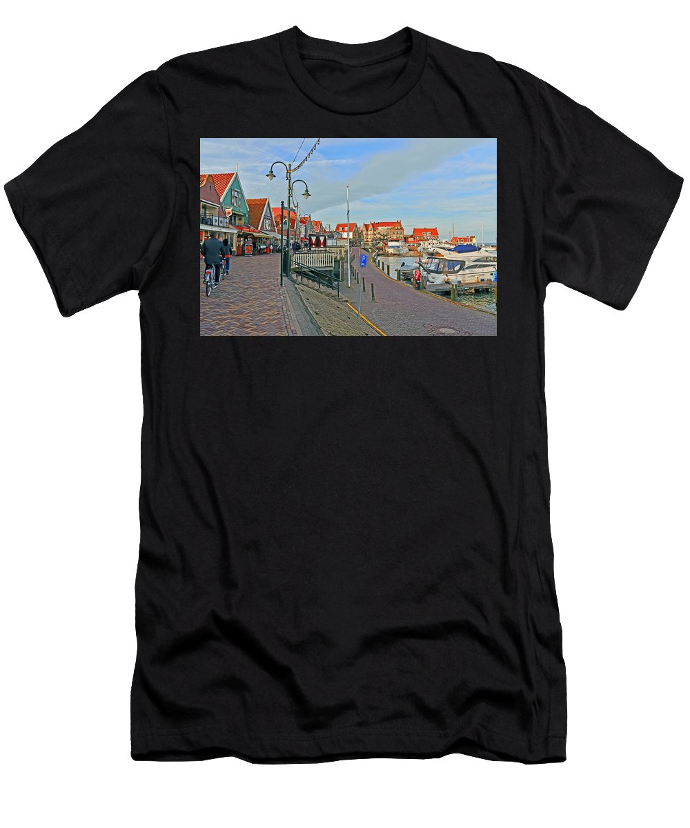 Travel Men's T-Shirt (Athletic Fit) featuring the photograph Port Of Volendam by Elvis Vaughn