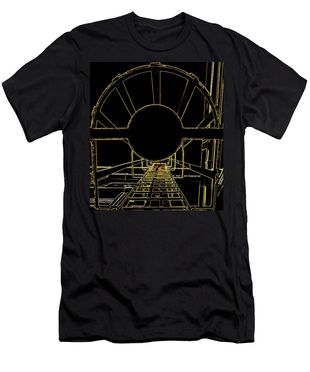 Hopper Men's T-Shirt (Athletic Fit) featuring the photograph Portal by Guy Pettingell