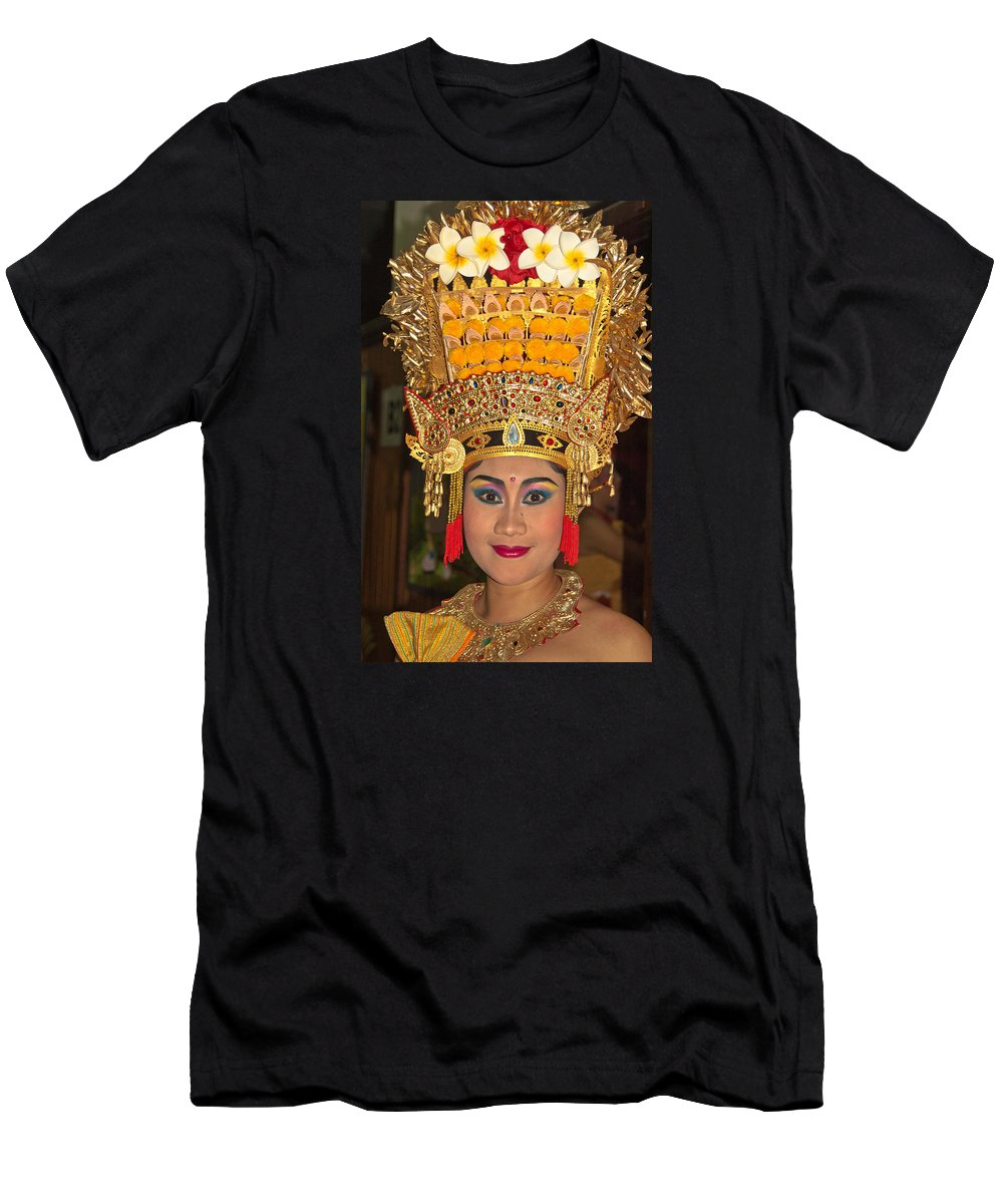 Adult Men's T-Shirt (Athletic Fit) featuring the photograph Portrait Of A Legong Dancer by Jill Mitchell